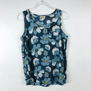 Ann Taylor LOFT Size Medium Floral Sleeveless Top